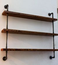Wood Shelving Unit, Wall Shelf, Industrial Shelves, Rustic ...
