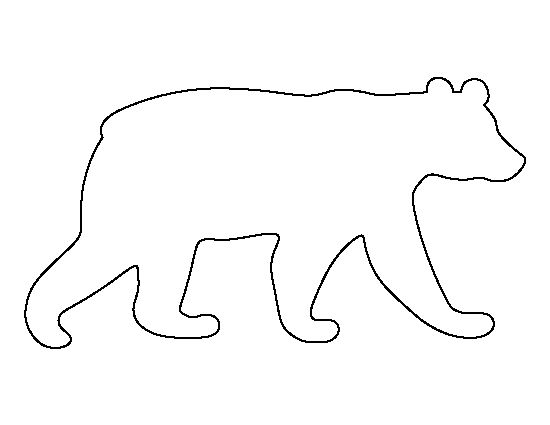 Black bear pattern. Use the printable outline for crafts