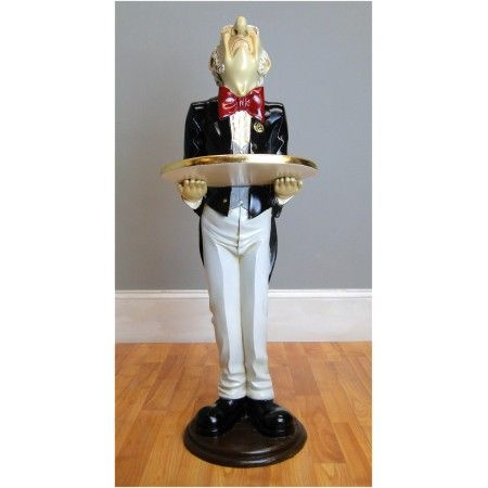 rooster statue for kitchen cabinet slides 3' tall butler snobby wine waiter with gold leaf ...