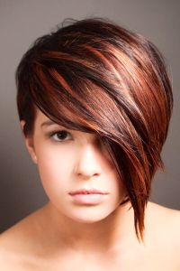 Half long front pixie cut in red. | Hair | Pinterest ...
