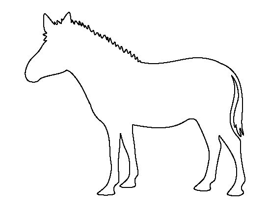 Zebra pattern. Use the printable outline for crafts
