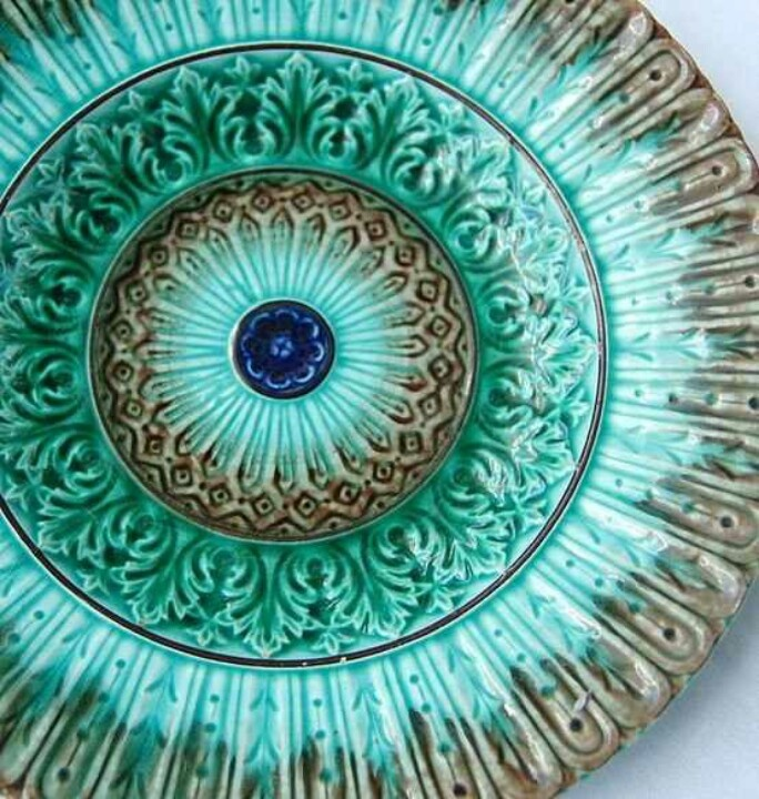 Majolica Plate Old Things Amp Antiques Pinterest
