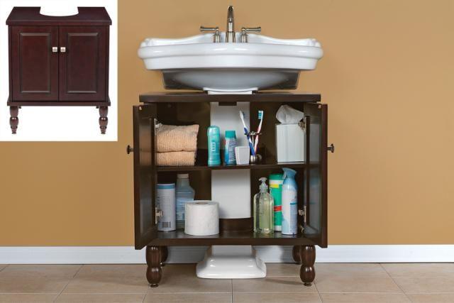 1000+ Ideas About Pedestal Sink Storage On Pinterest