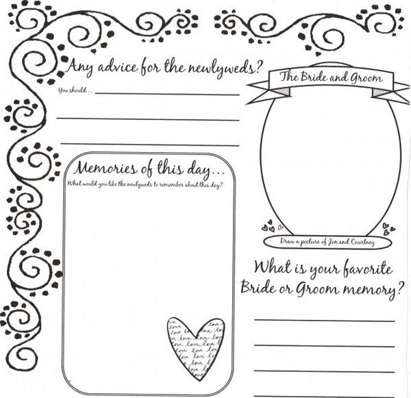 34 best images about DYI Printable Wedding Guest Book