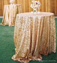 2015 Bling Rose Gold Sequins Wedding Party Round Table ...