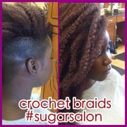 crochet braids with shaved side