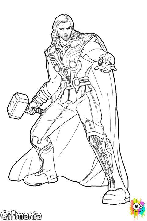Dibujo de Thor para Colorear http://www