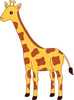 giraffe simple drawing