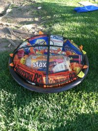 Fire-pit gift basket silent auction. Equipped with stuff ...