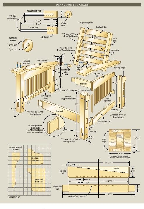 Free Morris Chair Plans  WoodWorking Projects  Plans