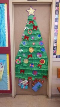 Christmas tree school door decoration