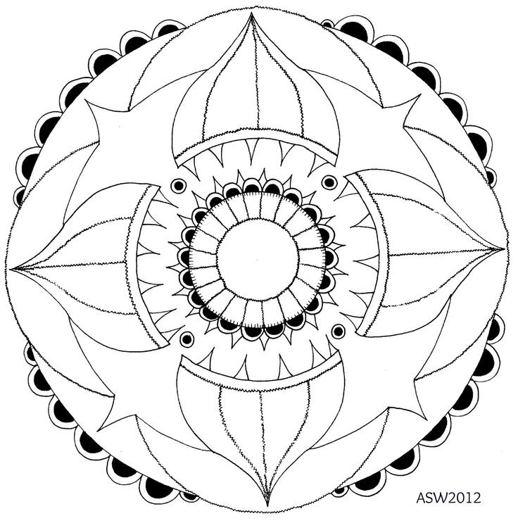232 best images about Mandalas para pintar on Pinterest