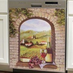 Grapes And Wine Kitchen Decor 5 Drawer Base Cabinet Theme Kitchen, Dishwasher Cover Tuscany On Pinterest