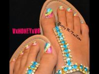 25+ best ideas about Neon Toe Nails on Pinterest | Bright ...