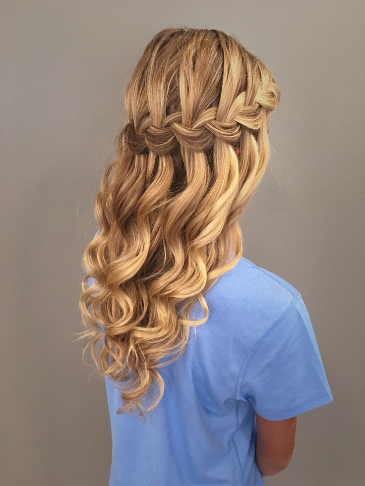 25+ Best Ideas about Waterfall Braid Prom on Pinterest