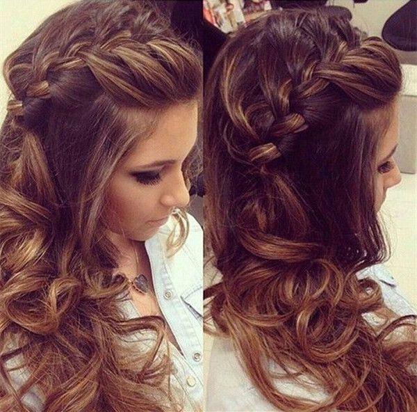 Best 25 Curly Braided Hairstyles Ideas On Pinterest Half