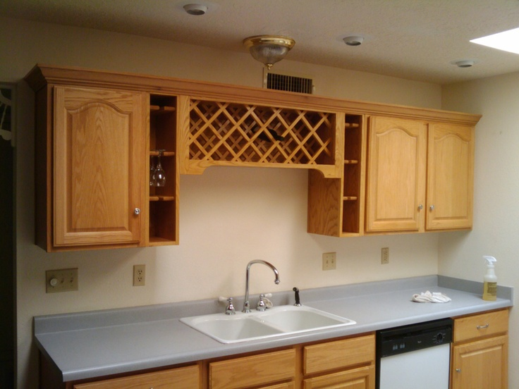 Custom built wine rack over sink  Portfolio  Minuteman