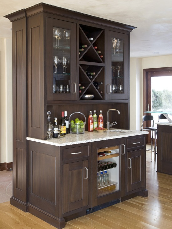 Wet bar wine storage Wet Bar Inspiration Pinterest