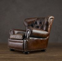 Churchill leather reclining chair from Restoration ...