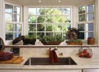 Bay window over the kitchen sink