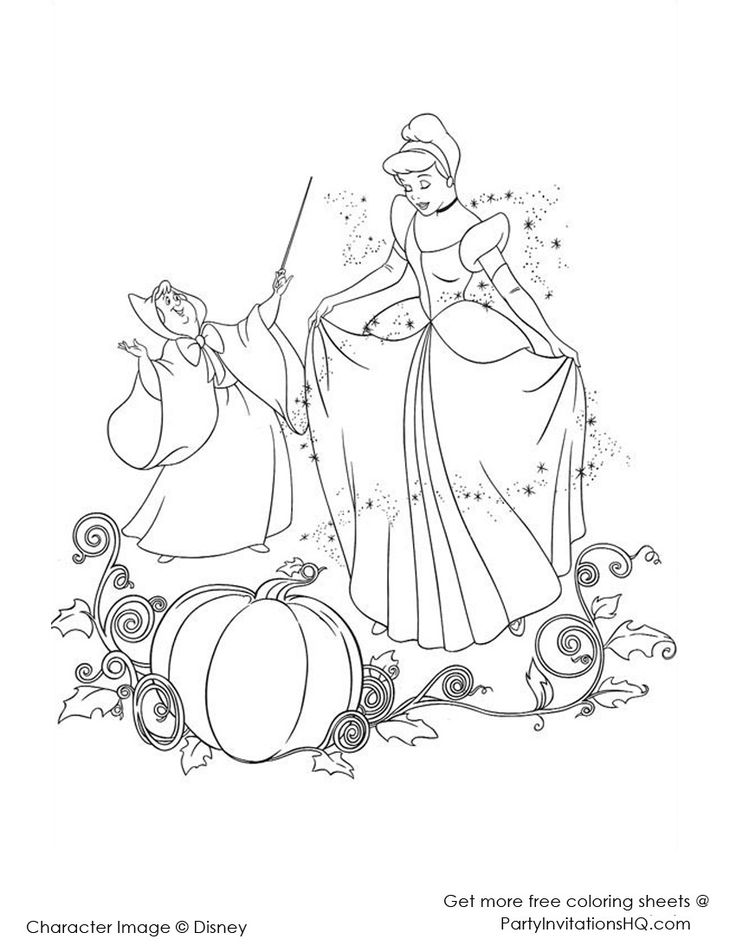 52 best images about Cinderella ~ Disney Coloring Pages on