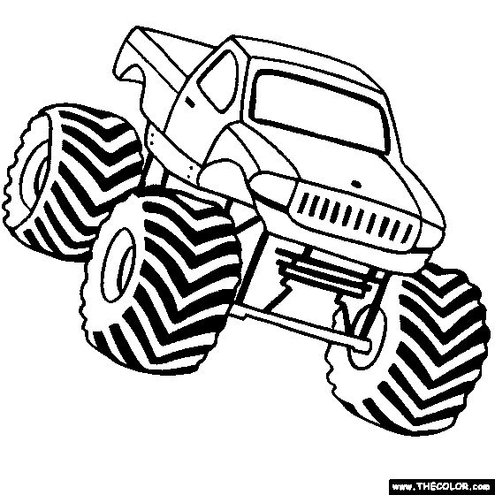 Best 116 Colour Pages Monster Truck images on Pinterest