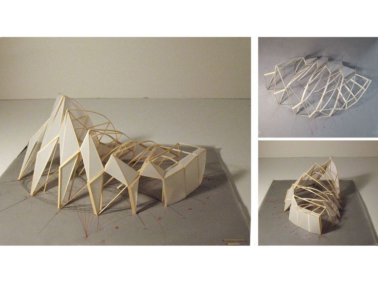 M-Yun : ferry terminal Pictures: complex shaped architecture Maquette: structure model made from wooden and glue Drawings: design