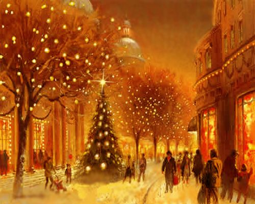 Old fashioned Christmas Shopping  Christmas  Winter