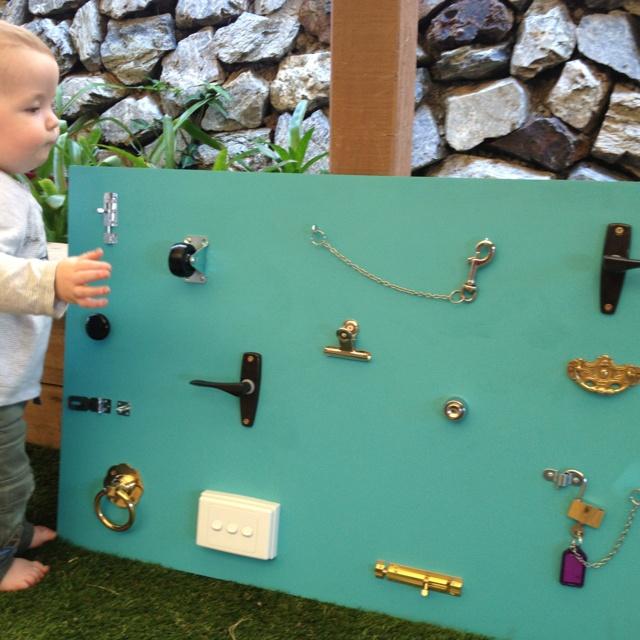 Lock and latch board  Preschool Boards  Pinterest
