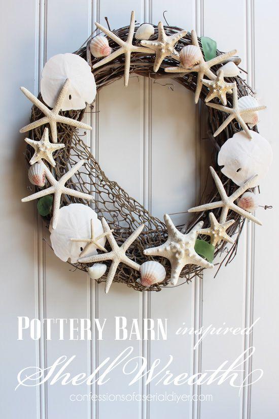 Best 25+ Seashell wreath ideas on Pinterest