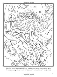 wiccan coloring pages colouring adult advanced myth god