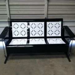Retro Metal Patio Chairs High Top Kitchen Table And Old Vintage Porch Glider | Gliders & Pinterest Glider, ...