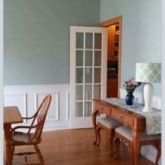 Gray Paint Colors For Living Room Pacific Coffee Table Trunk Chest Dining Makover- Wainscoting, Behr Marquee Color, ...