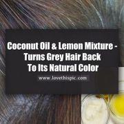 coconut oil and lemon mixture