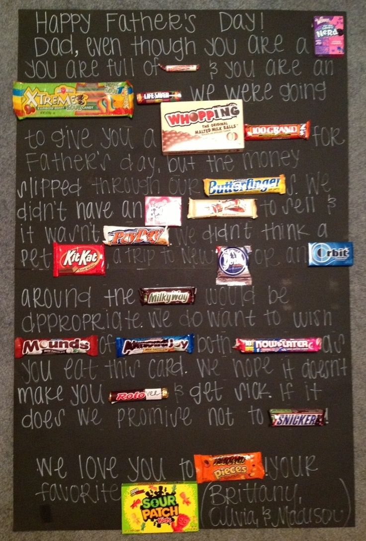 Fathers Day Diy With Candy On Card Fathers Day Candy