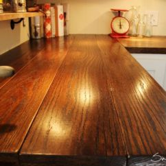 Inexpensive Kitchen Countertops Green Apple Decor Diy Wide Plank Butcher Block Counter Tops | Simplymaggie ...