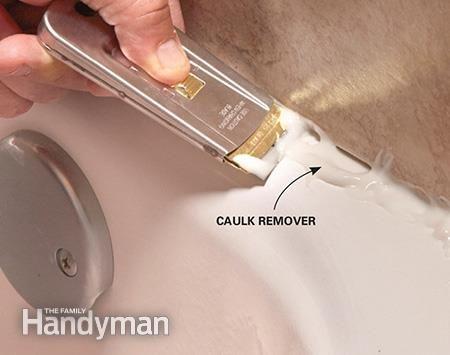 How To Re Caulk A Shower Or Bathtub Bathtubs