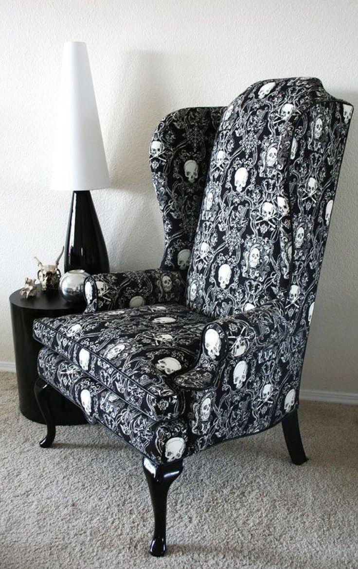queen anne chair cover rental buffalo ny sillon orejero alto   salas pinterest skull furniture