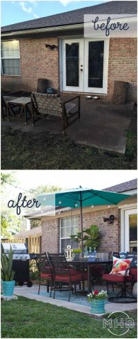 25+ best ideas about Patio makeover on Pinterest   Budget ...