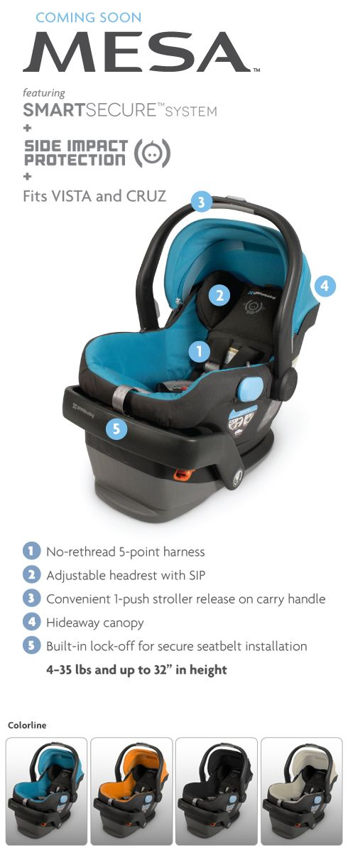 uppababy MESA Infant Car Seat for the uppababy stroller! in black