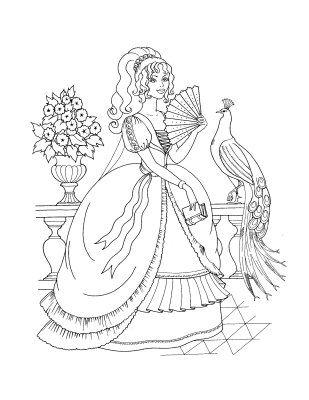 111 best images about Coloriages Princesses et Reines on