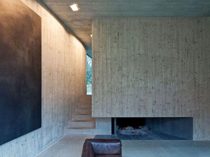 17 Best Ideas About Concrete Fireplace On Pinterest