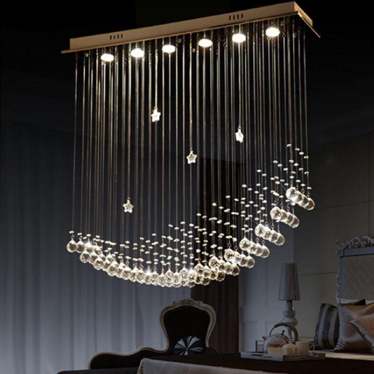 Byb 174 Modern Chandelier Rain Drop Lighting Crystal Ball