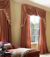 luxury orange curtains drapes and window treatments ...