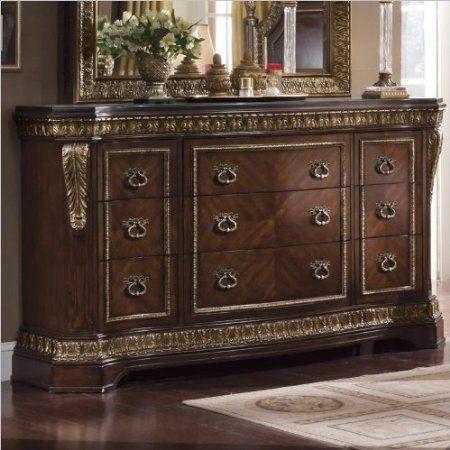 Amazoncom Pulaski Pulaski Del Corto Nine Drawer Dresser Furniture  Decor  Bedroom Set