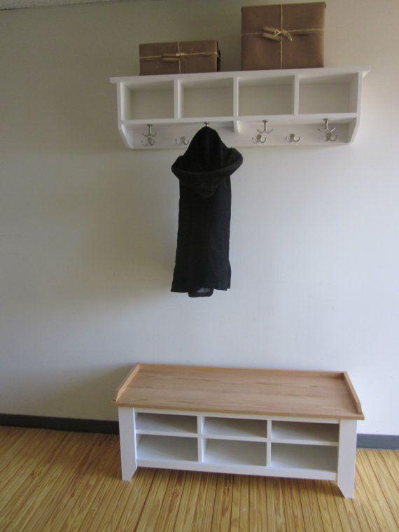 48 Quot Entryway Bench And Shelf With Coat Hooks Coat Rack