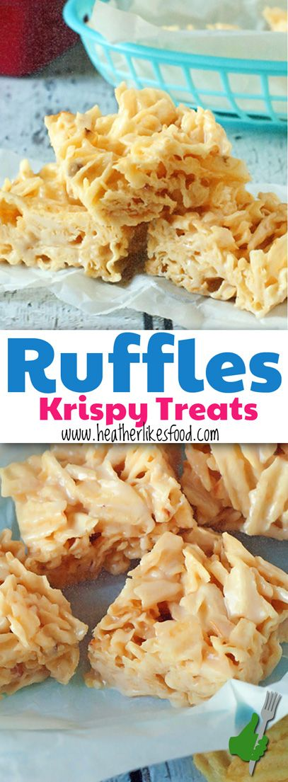 These Sweet and Salty Ruffle Krispy Treats will blow your mind. That. Is. All.