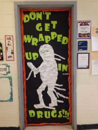 """Red Ribbon Week Door! """"Don't Get Wrapped Up in Drugs ..."""