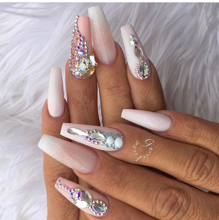 17 Best ideas about Diamond Nails on Pinterest