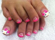 kitty toe nails nail art